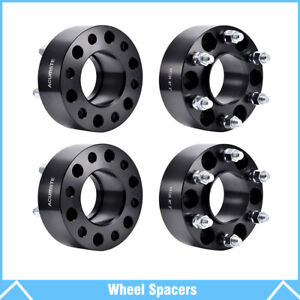4pcs 2 6 Lug Black Wheel Spacers Adapters 6x135 For Ford F 150 Expedition