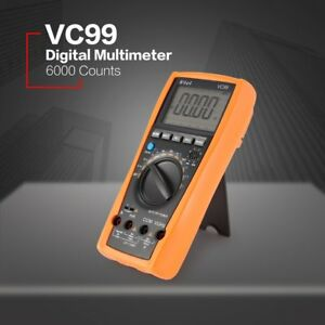 Vc99 Digital Multimeter 5999 Count Ac dc Volt Amp Ohm Diode Temperature Tester S