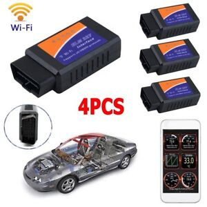 4pack Elm327 Usb Interface Obdii Obd2 Diagnostic Car Scanner Scan Ba