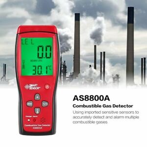 As8800a Combustible Natural Gas Detector Portable Gas Leak Analyzer Tester Ls