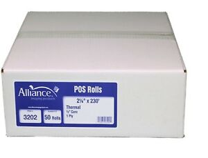 Alliance Thermal Paper Receipt Rolls 2 1 4 X 230 White 50 Rolls
