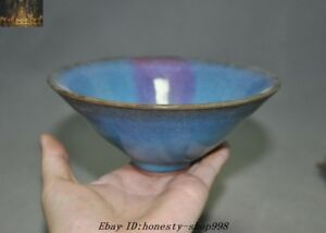 6 Antiques Old Chinese Dynasty Jun Kiln Porcelain Glaze Bowl Cup Dish Bowls