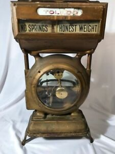 Antique Vintage Toledo Honest Weight Grocery Scale 384by