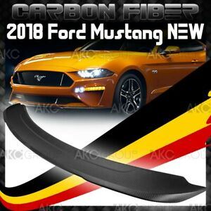 Matte Real Carbon Fiber Rear Spoiler Wing Gt350 550 Style For 2018 Ford Mustang