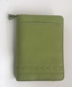 Compact 1 25 Rings Green Tassled 365 Franklin Covey Zippered Planner binder