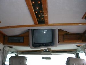 Chevy Glaval Conversion Van Solid Walnut One Cabinet Door One With Vhs Hole