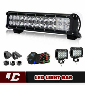 Single Row 17inch 80w Cree Led Spot Flood Combo Work Light Bar Atv Suv 20 18