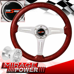 For 96 00 Civic Chrome Hub Adapter Metallic Red Chrome Center Steering Wheel
