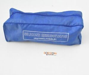 Ambu Bag Manual Resuscitator Breathing Bag Valve Mask Silicon Cpr First Aid New