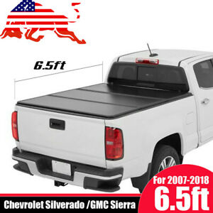 Lock Hard Solid Tri Fold Tonneau Cover Fits 2007 2013 Chevy Silverado 6 5ft Bed