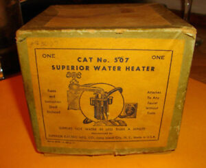 Vintage 1910s Electric Water Heater Faucet Attachment Still In Original Box