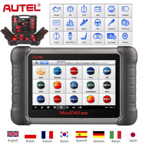 Autel Maxidas Ds808k Code Reader Scanner Obd2 Kit Tablet Full Set Diagnostic Us