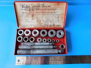 Vintage Used Snap On Tools Standard Bushing Driver Set Part A 157a