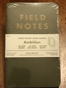 Field Notes Ambition fnc 25 Sealed 3 Pack