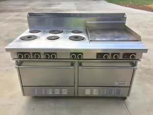 Garland Commercial Range Oven Griddle Electric 6 Burner Dual S684 24r
