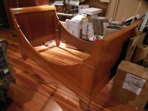 Beautiful Antique French Country Maple Empire Style Sleigh Day Bed