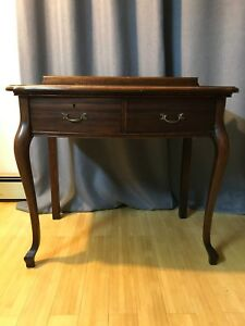Solid Mahogany Writing Desk Vanity Desk Dressing Table W Solid Wood