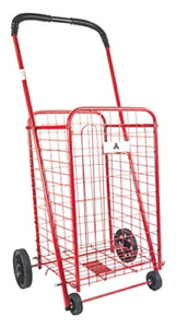 Ath Small Deluxe Rolling Utility Shopping Cart Stowable Folding Heavy Duty