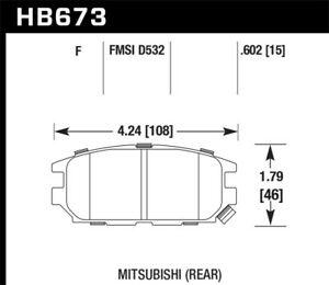 Hawk For 91 93 Mitsubishi 3000gt Vr 4 06 12 Eclipse Non T Gt 6cyl Only Hps Str
