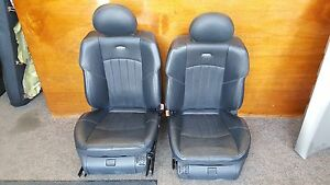 2005 Mercedes E55 Amg Sport Front Seats Black Leather