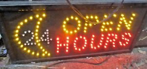 Open 24 Hours Neon Led Sign business Sign smoke Shop Sign store Sign window Sign