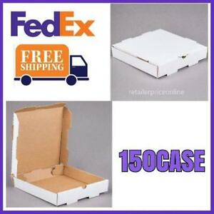 150 Case 10 X 10 X 1 3 4 White Plain Pizza Box Us Free Fedex