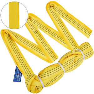 2pcs 20ft 6600lbs Endless Round Lifting Sling Durable Steel Recovery Strap