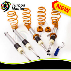 2 Front 2 Rear Coilover Suspension Kits For Vw Mk5 Rabbit Jetta Gti R32 06 09
