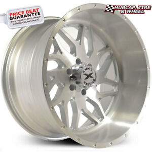 Xtreme Force Xf 2 Silver Full Brushed 22 x12 Custom Wheels Rims set Of 4 new