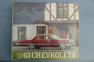 1963 Chevy Car Selector Dealer Sales Album Color Options Upholstery Incomplete