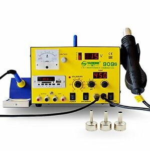 Yaogong 909s Hot Air Smd Rework Soldering Iron Station Kit Set Heat Gun Usb Gift