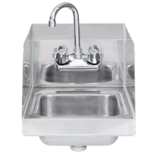 Stainless Steel Hand Sink With Side Splash Nsf Commercial Equipment 12 X