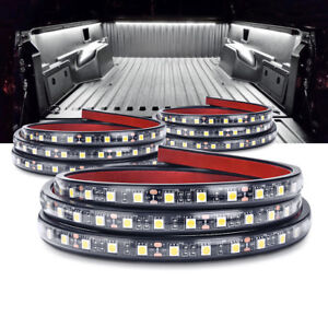 Mictuning 3pcs 60 Led Truck Bed Light White Strip Lamp Waterproof On off Switch