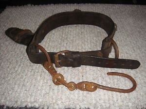Vintage Lineman s Leather Belt In Good Condition