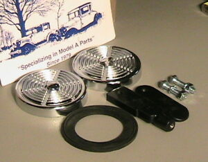 1930 And 1931 Ford Model A Coupe And Roadster Deluxe Rumble Seat Step Plate Set