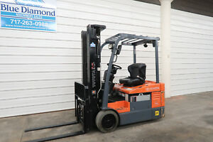 2011 Toyota 7fbeu18 3 500 Electric Forklift New 36 Volt Battery 3 Stage Ss