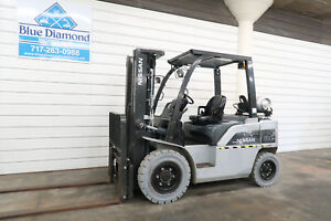 2011 Nissan 8 000 Pneumatic Tire Forklift Lp Gas Three Stage Mast Sideshift