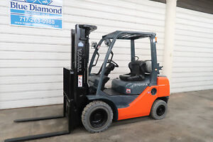 2012 Toyota 8fgu25 5 000 Pneumatic Tire Forklift Lp Gas 3 Stage S s Nice