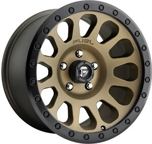 4 Fuel Rims 6 Lug 6x139 7 6x5 5 Bronze 17 Inch Lifted 1500 Wheels 17x9 12mm