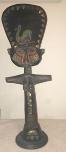African Tribal Fertility Statue 25 Inches Tall Wooden