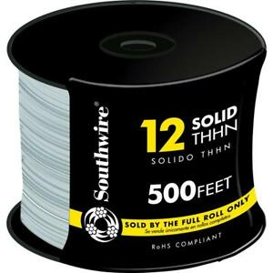 Southwire Single Conductor 500 Ft 12 Gauge Gray Solid Cu Electrical Wire