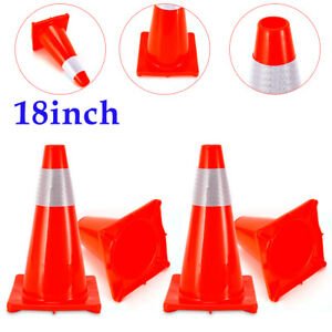 Premium Grade Pvc 18inch Traffic Cones Safety Red Sports Reflective Construction