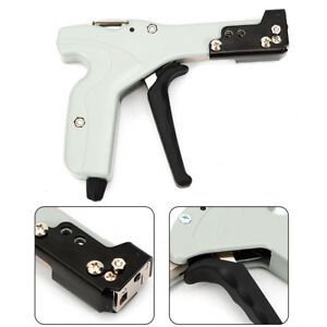 Fasten Auto Tensioning Zip Tie Cut Off Gun Hand Tool For Metal Cable Tension