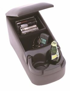 Car Center Console Bench Seat Universal Charcoal Cup Holder Contractor Truck Van