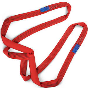 19 7ft 11000lbs Endless Round Lifting Sling Polyester High Strength Strap