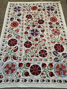 Original Uzbek Large Beautiful Multi Handmade Wall Decor Embroidery Suzani