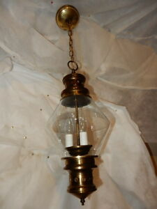 Tudor Brass Moe Light Pendant With Clear Glass Shade