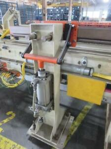 1 Section Power Powered Conveyor 15 Feet 48 Roller With Actuators