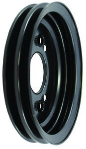 Big Block Chevy Bbc Black Steel 2 Groove Short Pump Crank Pulley 396 427 454