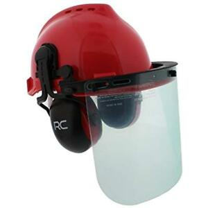 Forestry Head Protection Safety Helmet Vented Hard Hat Mesh And Plastic Visors